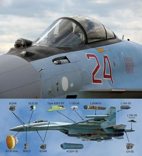 俄公布苏-35瞄准F-22屏幕截图 同样能力歼-20也有