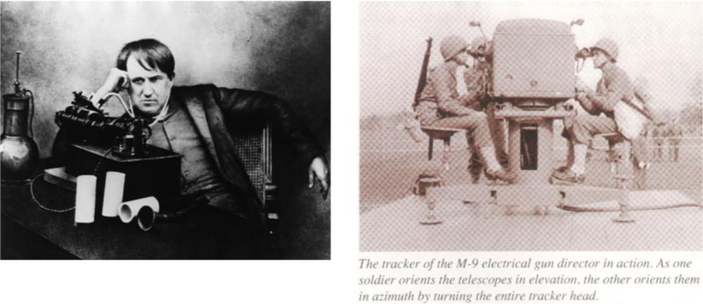 图2 爱迪生发明实验室及西点军校早期武器操作手培养