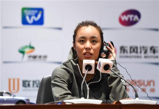 中国网坛第一美人王蔷破纪录 武网单打8强首次有中国人