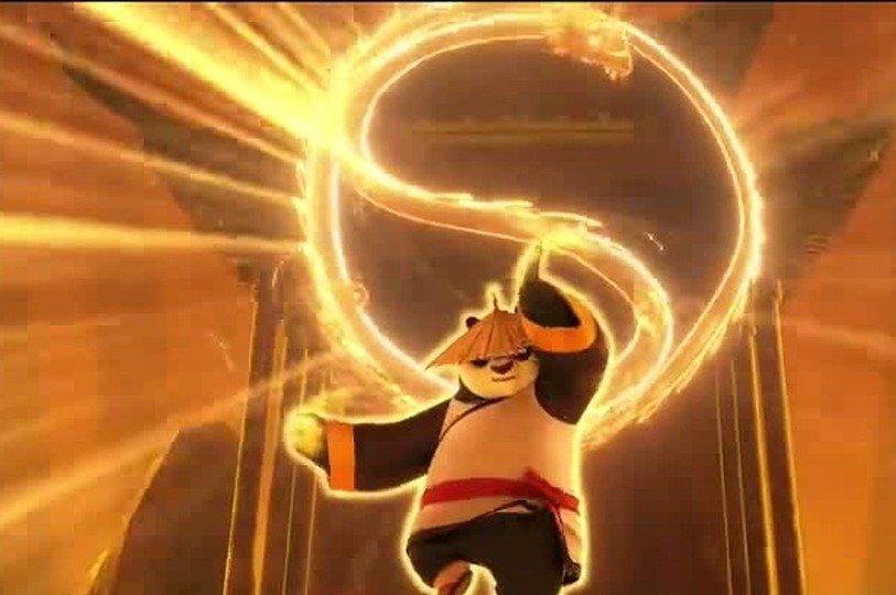 功夫熊猫3:借用神力,阿宝打败了天煞,一切也恢复到原来的状态