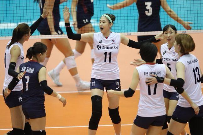 韩国女排终获世锦赛首胜!1胜4负打道回府,奥运会也悬了