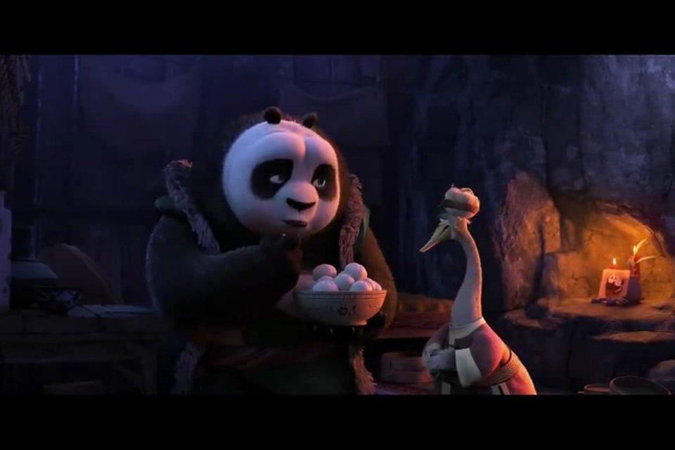功夫熊猫3:阿宝决心练功,阿爸为阿宝爸爸安慰,劝他为阿宝着想