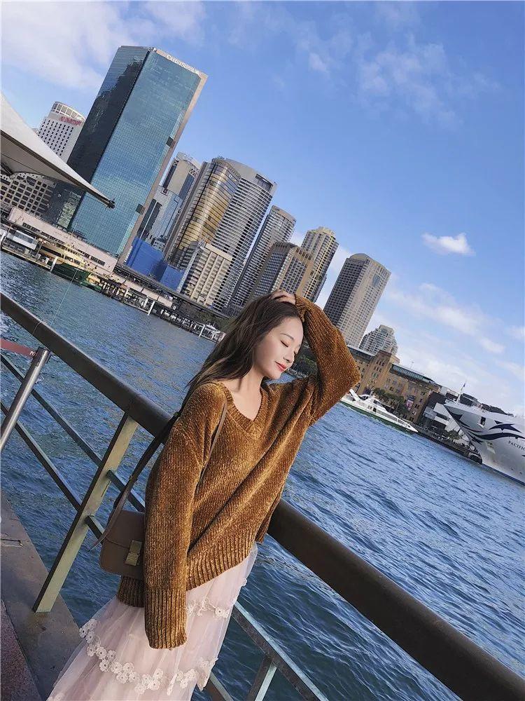 套头针织 裙子,属于苹果型身材的气质穿搭!