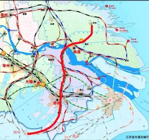 规划建设泰兴-常州线,无锡-江阴-靖江线及无锡-宜兴线,如东-南通-苏州