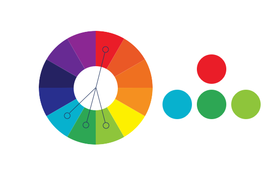 三色搭配_一般来讲,三色搭配和多色搭配体现出明显的色相差异,富裕张弛感的