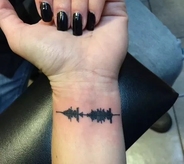 stlye | 听得见的声波纹身,永远铭记来自亲人的爱的嘱托