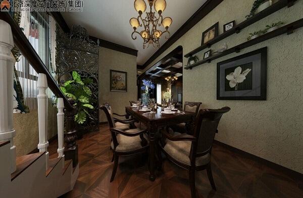 北海美式风格别墅装修,造价30-50万.