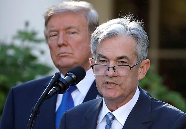 特朗普本周第3次批评美联储:对鲍威尔很失望