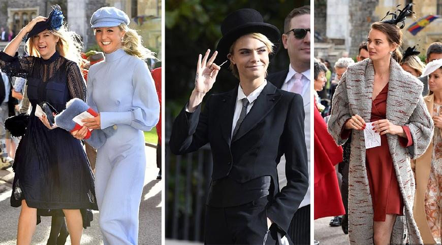 英国公主婚礼成秀场女士穿礼服斗艳却被卡抽的燕尾服抢了风头