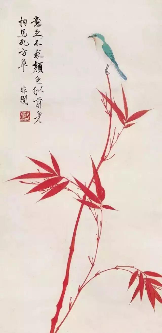 工笔画白描图片 牡丹 翠鸟