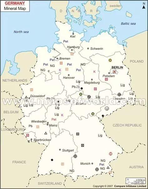 现代矿产分布挺全面啊!二战德国真缺资源吗?
