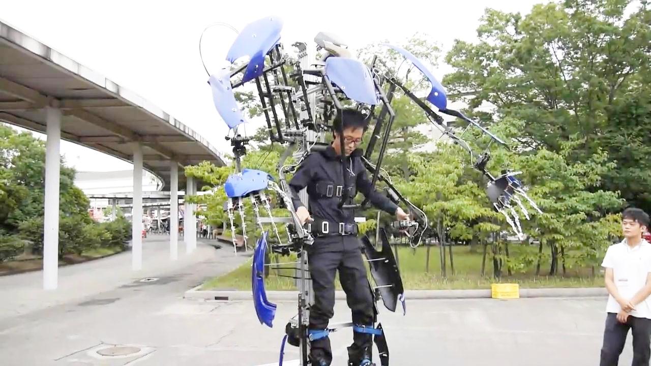 日本外骨骼机器人 穿上就变高达