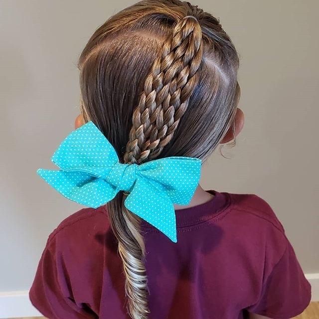 10款可爱儿童简单编发发型!让你家宝贝走在流行尖端