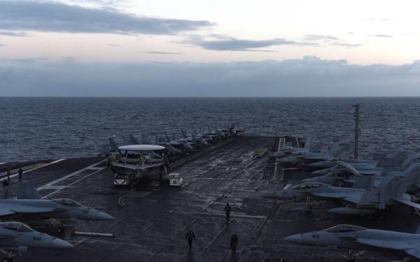 美海军航母近30年来首次进入北极圈 参加北约军演