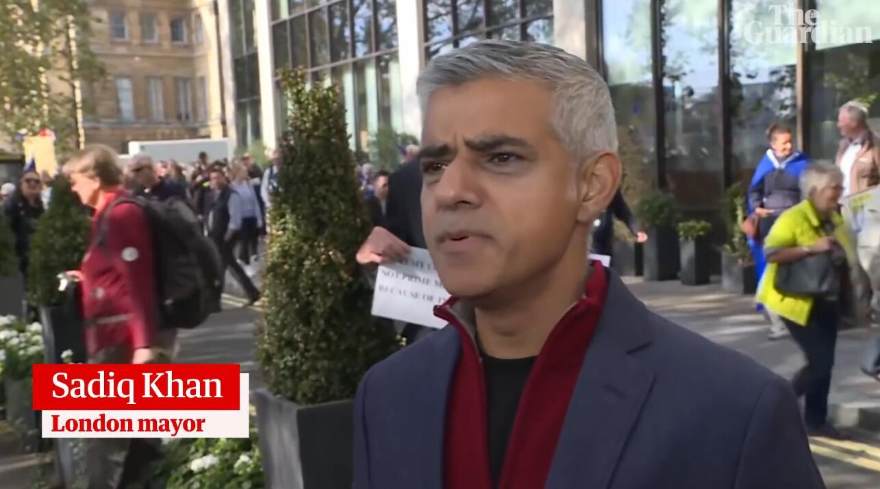 英国伦敦70万人大游行 呼吁对脱欧进行第二次公投