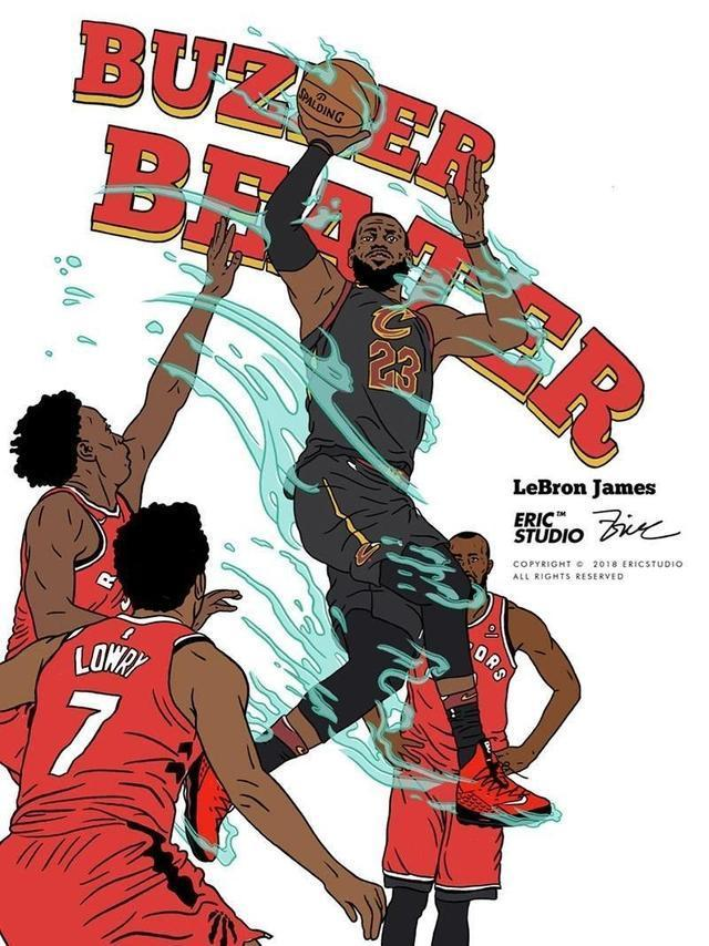NBA球星漫画集锦:詹姆斯手握权杖,杜兰特老师死神爱罗漫画图片图片