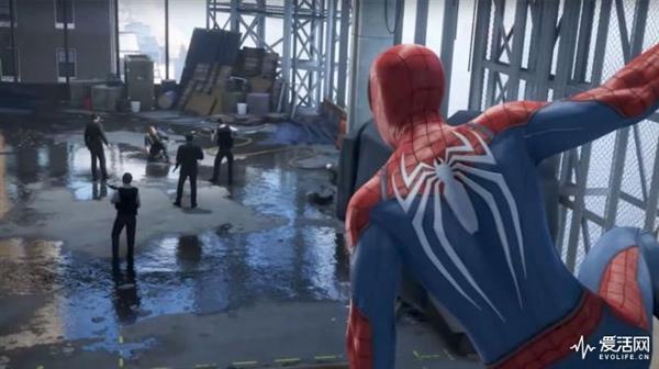 PS4《漫威蜘蛛侠》中的水坑回来了:画风诡异
