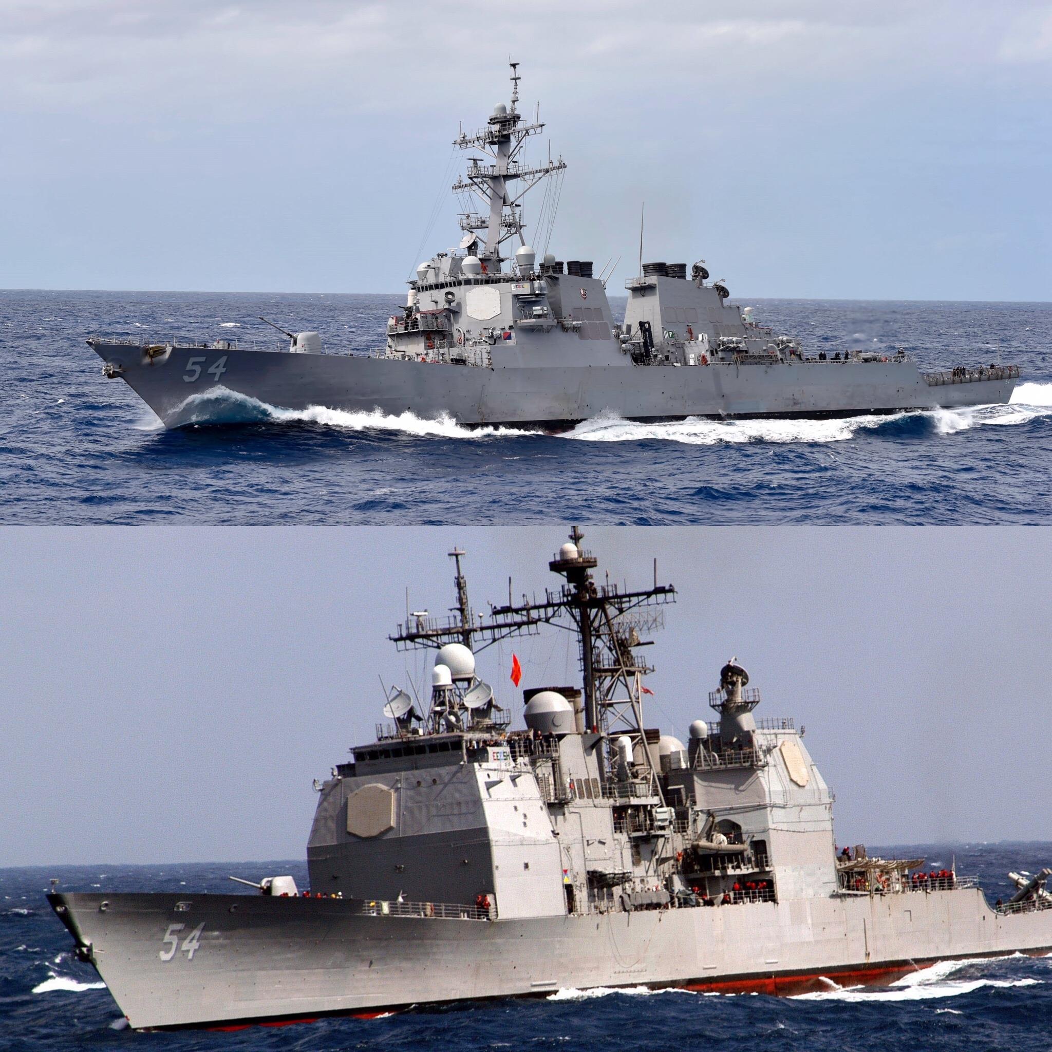 美海军2艘军舰穿越台湾海峡,又打台湾牌