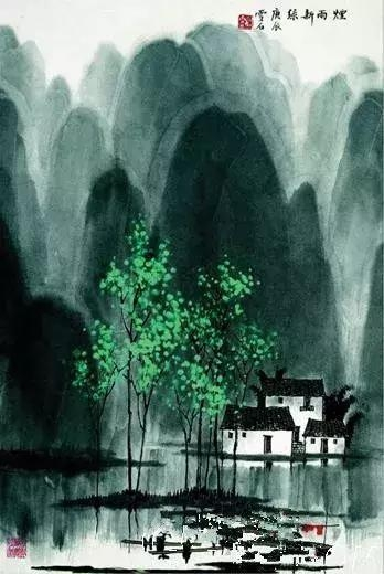 他的画具有宋画之严谨,元画之轻快,水彩画之.