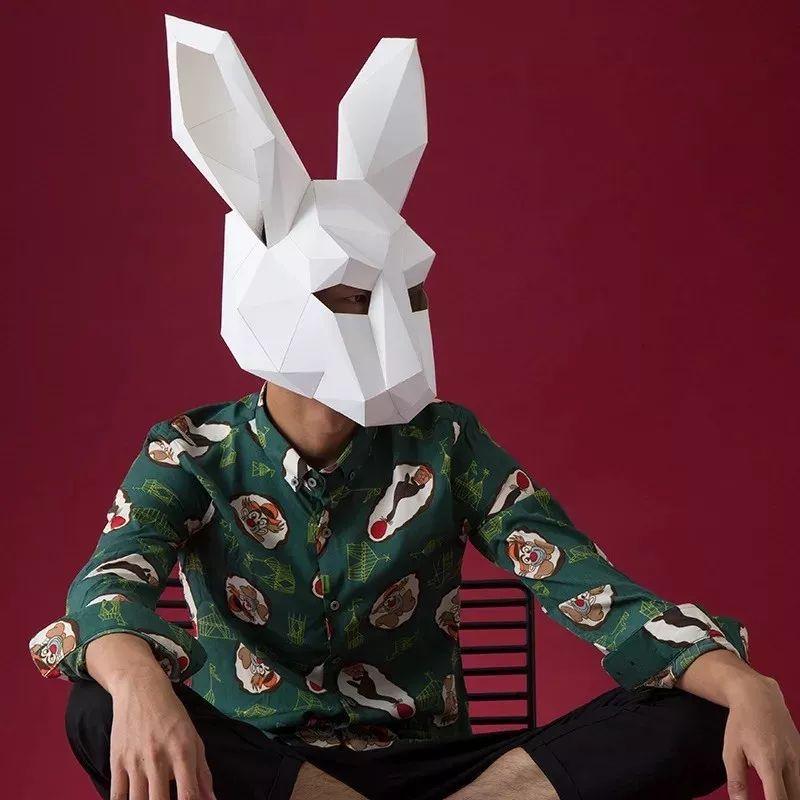 """互联网  万圣节咱们直接 """" 换个头 """" 动物折纸头套 成人款 / 儿童款"""