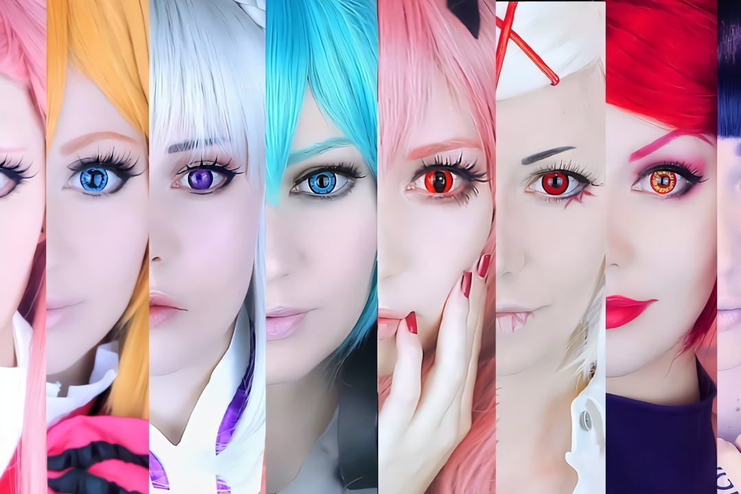 日本少女万圣节美瞳体验 发色、服饰、角色配那种美瞳 第一集