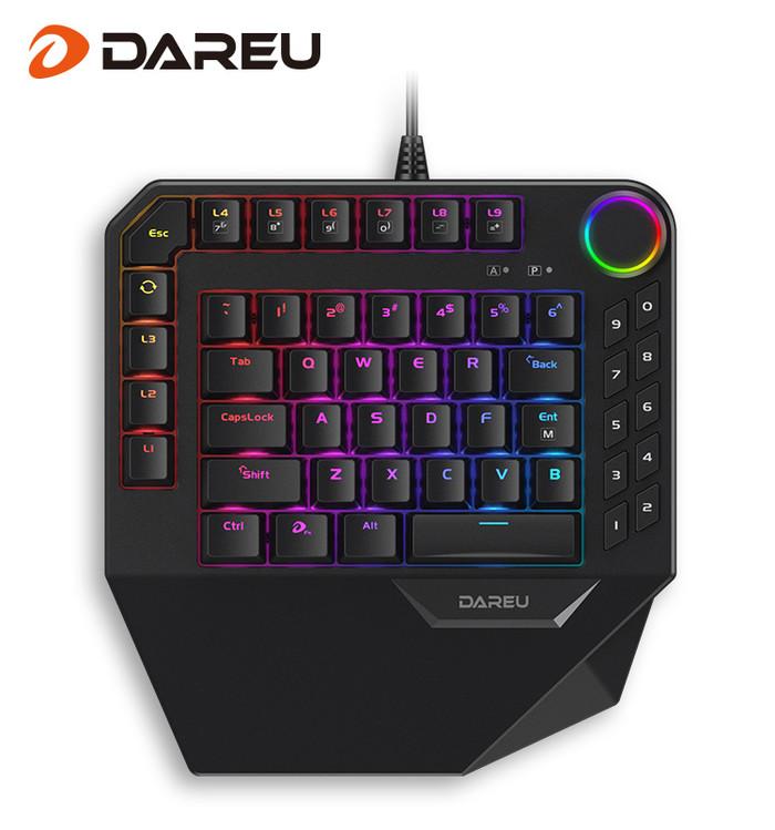 ek娱乐 随时随地,陪你战斗,达尔优发布EK828 RGB单手机械键盘