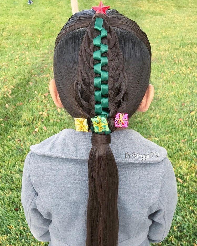 长发女生这样编头发很美,喜欢编发的妈妈来收图