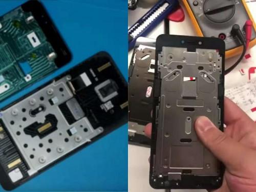 网友制作的手机滑盖结构对比图(左:小米mix3vs右:联想z5pro)