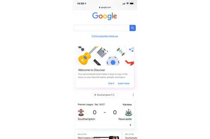 Google在移动网页上线了Discover信息卡产品
