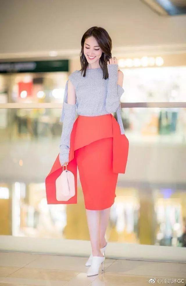 陈凯琳身穿亮片裙性感十足,尽显女神范儿,网友:恨天高