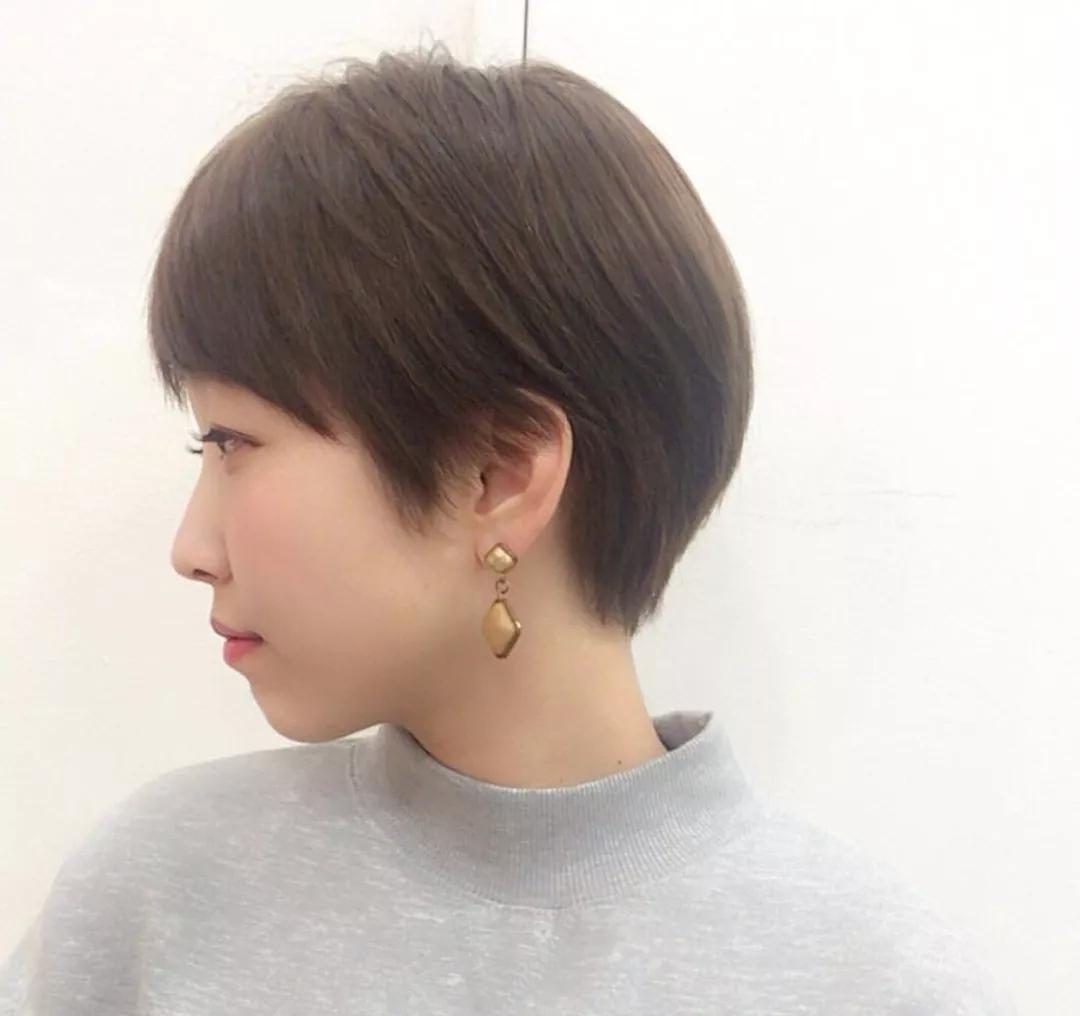 短发,这样剪颜值最出彩,绝对是剪短发的烫发孕妇用首选剂图片