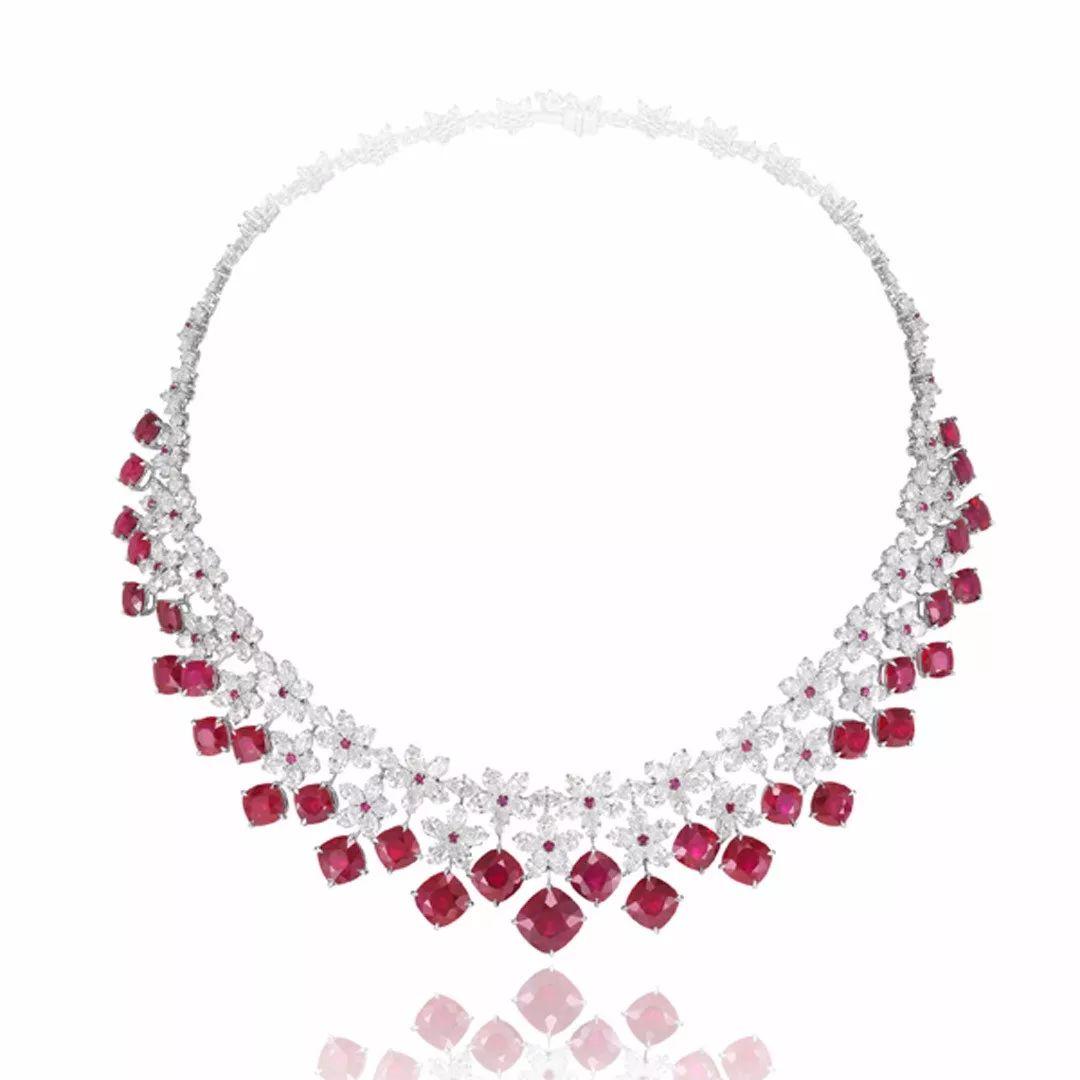 chopard 萧邦red carpet系列 红宝石项链