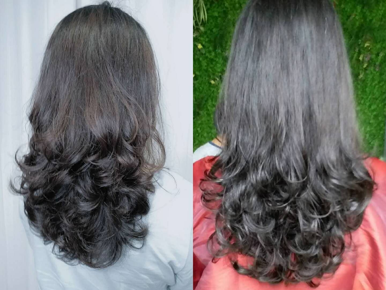 洗发后先擦干水分,再把头发梳通梳顺,然后涂抹弹力素等造型产品,吹图片