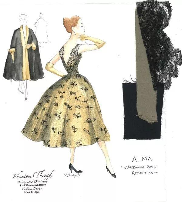 历届奥斯卡最佳服装设计大赏,这些手稿你可能第一次见到 | 设计推荐