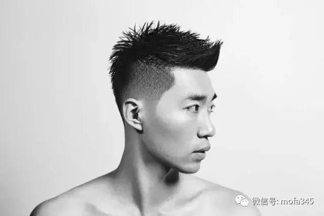 男士短发潮流发型,两边和后面剃掉留上面