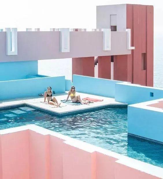 ins用泳池手绘
