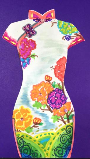 少儿创意美术《我为妈妈做旗袍》,超级暖心的课题!