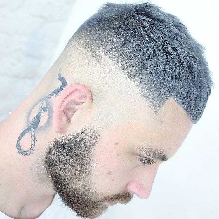 四周都剪光的男士发型,最帅图片