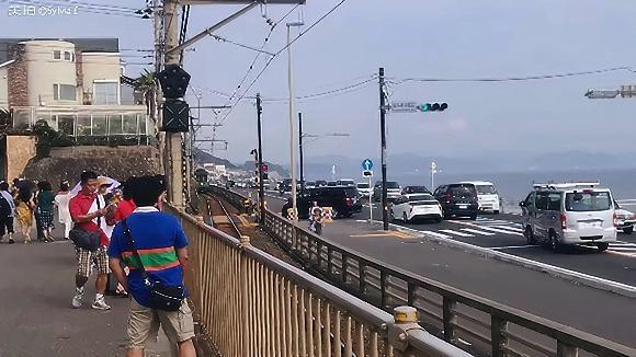 日本灌篮高手镰仓站,去日本旅游的时候拍