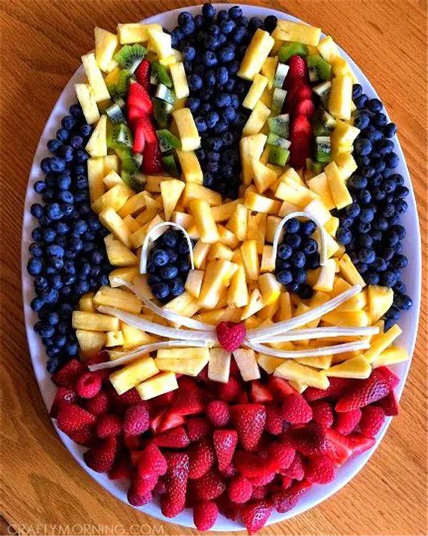 果果认为这一个水果拼盘采用的水果种类最少,制作也非常简单,所以果果图片