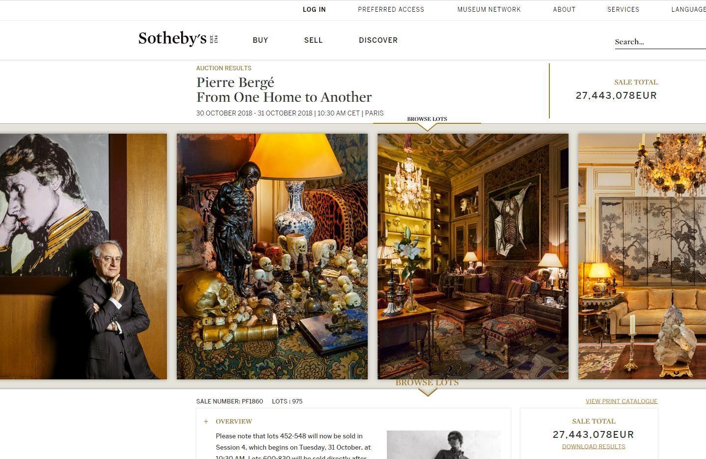 YSL 联合创始人 Pierre Bergé 生前艺术品收藏拍得 2744万欧元