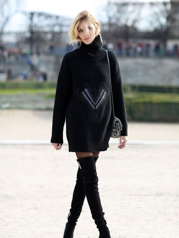 一条情趣裙在图片季节的N种搭配,既a情趣还显高s秋冬椅形使用毛衣图片