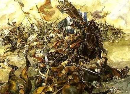 ▲翼骑兵与瑞典骑兵交战