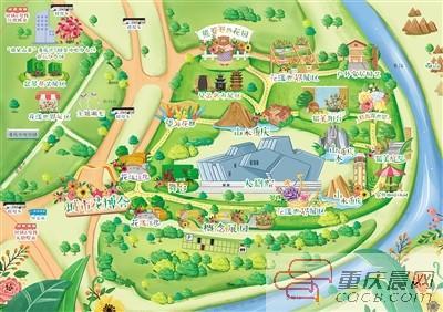 """收好这份手绘地图 到江北嘴""""花漾一日游"""""""