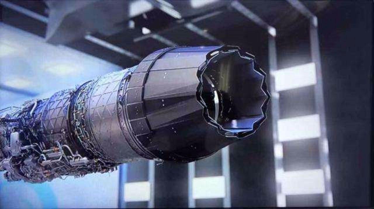 新型发动机,还有一个三维矢量的尾喷.