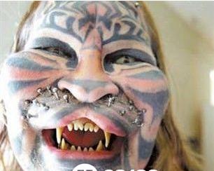 盘点世界史上最疯狂的十大纹身图片