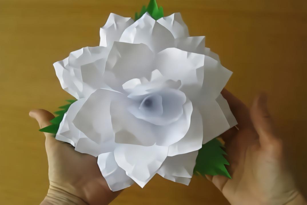 教你制作简单的折纸栀子花,折纸教程!