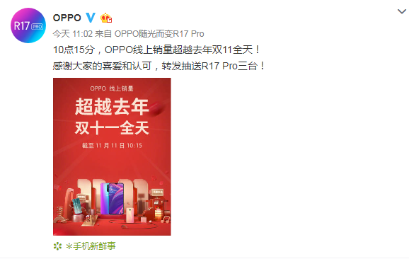 破纪录!OPPO R17 Pro首销火爆 线上记录创新高