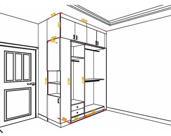 35款常见衣柜设计,衣柜内部尺寸及结构一目了然,让收纳更轻松