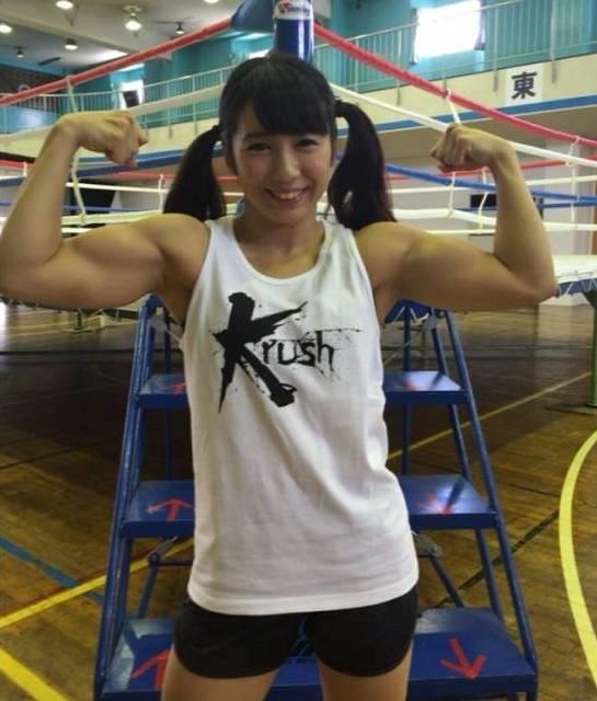 当日本这个最萌筋肉女生晒出肌肉,狂到让少女的名字姓男生暮图片